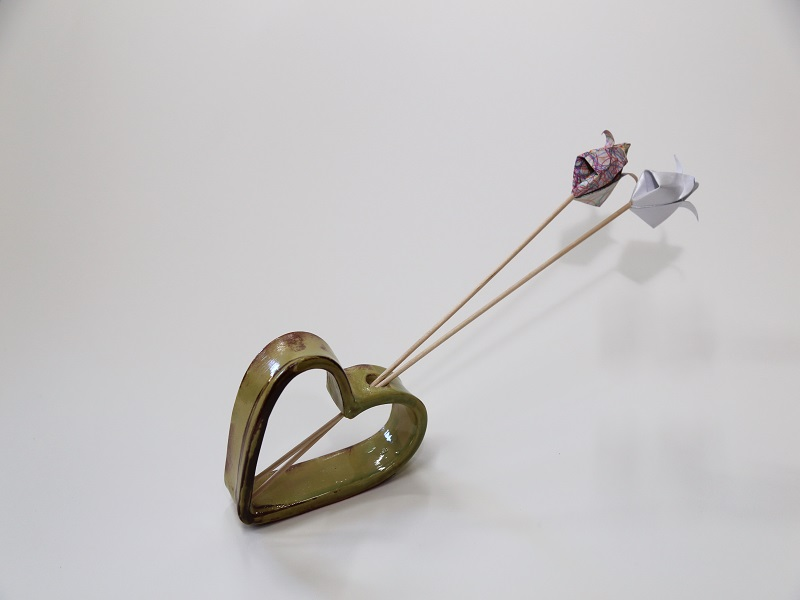 Suporte de caneta em flor