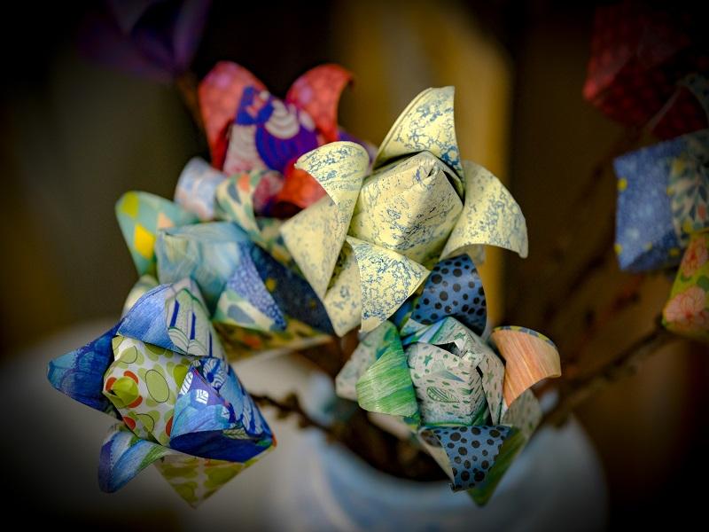 Flores Tulipa em Origami