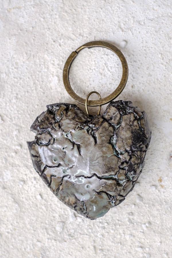Coração partido - porta chaves