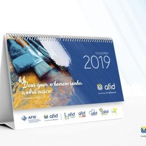 Calendário solidário AFID – 2019