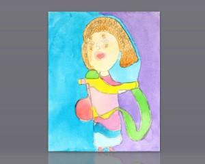 "Pintura acrílico ""Bailarina Oriental"""