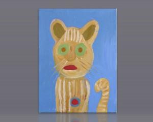 """Pintura acrílico """"Gato"""""""