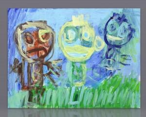 "Pintura acrílico ""Passeio na Relva"""