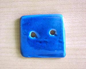 Botão Quadrado Azul