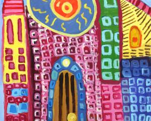 "Pintura acrílico ""Catedral da Primavera"""