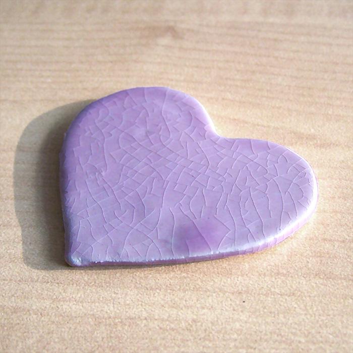 Pisa-papéis Coração Lilás