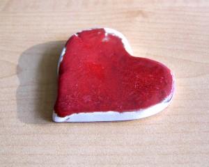 Pisa-papéis Coração Vermelho