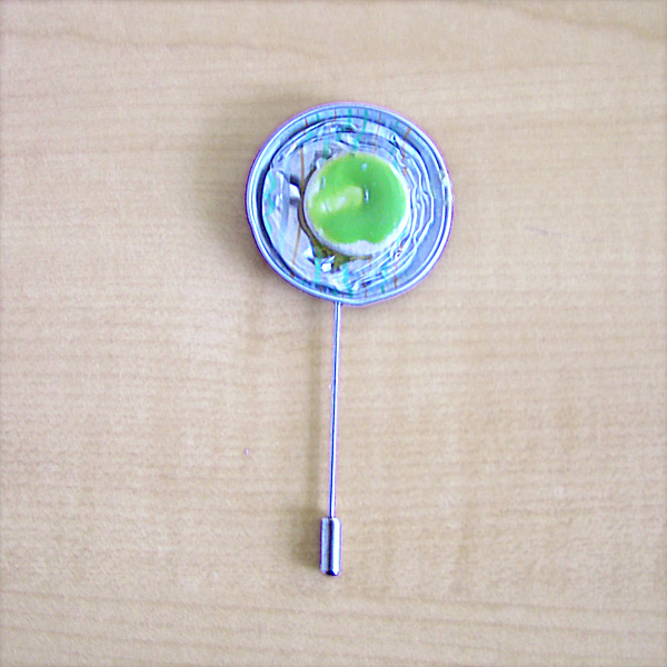 Pregadeira Reciclada Prata/Verde