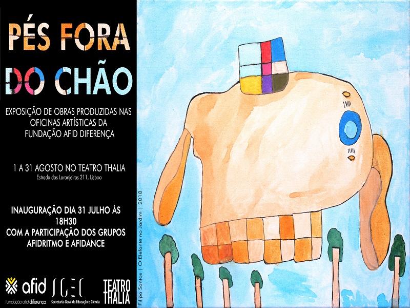 """Convite exposição """"Pés Fora do Chão"""""""
