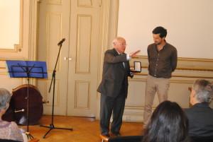 Dr. Domingos Rosa e o Vereador do Pelouro da Educação e Direitos Sociais da edilidade, Ricardo Robles