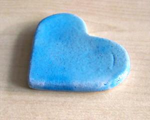 Pisa-papéis Coração Azul Claro